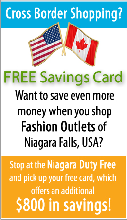 Coupons for Fashion Outlets Niagara Falls