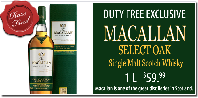 Macallan Select Oak Single Malt Scotch Whisky