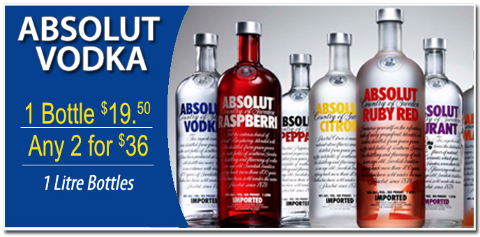 Absolute Vodka Sale, Niagara Duty Free