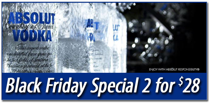 Absloute Vodka Black Friday Speical