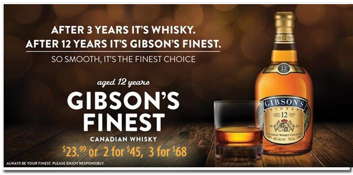 Gibsons Finest Canadian Whiskey